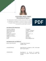 Alejandra Mejía Torres - HV