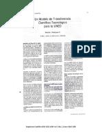 Un modelo de transferencia científico-tecnológico para la UNED. Rodolfo J. Rodríguez Rodríguez.
