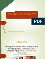 Sesión VII Política de Producto CFL 2014 Parte A