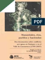 Manantiales, ríos, pueblos y haciendas