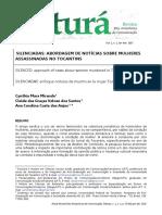 Silenciadas - abordagem de no´ticias sobre mulheres assassinadas no tocantins.pdf