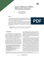 indicadores de procesos de exito en psicoterapia cognitiva