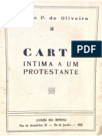 Gastão P. de Oliveira - Carta íntima a um protestante