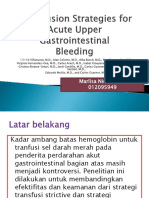 Transfusion Strategies for Acute Upper Gastrointestinal