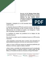 13-08-17 Mensaje del Dr. Enrique Ochoa Reza Presidente del CEN del PRI, Plenaria PRI