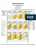 2017-2018 instructional calendar