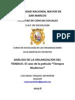 ensayo de sociologia de las organizaciones
