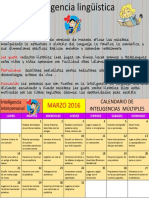 Calendario de Inteligencias Multiples Marzo Linguistica 1