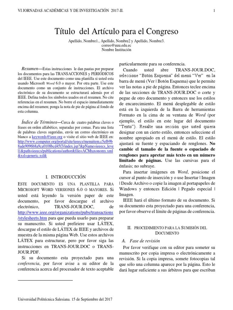 Plantilla Articulo de Investigación