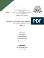 Geol Report of Bacong Fieldwork