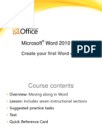 training presentation - create your first word document ii.pptx