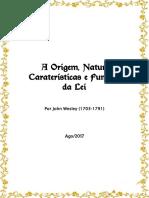 A Origem, Natureza, Caraterísticas e Funções Da Lei