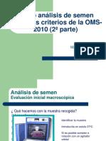 Curso Análisis de Semen Según Los Criterios de La OMS-2010 (2ª Parte)