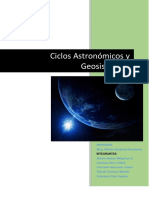 Ciclos Astronomicos y Geosistemas