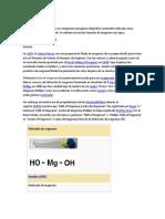 El Hidróxido de Magnesio Es Un Compuesto Inorgánico