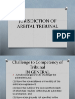 Jurisdiction of Arbital Tribunal