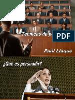 Separata 2. Técnicas de Persuasión. Diapositivas (Paúl Llaque)