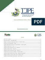 e-Book TJ-PE - DICAS IMPERDÍVEIS PARA A PROVA