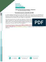 Call for IPSF PARO Subcommittees 2017-18 (Español)