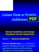 Farmlot Subdivision Guidelines
