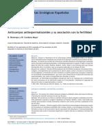 Anticuerpos Antiespermatozoides y Su Asociación Con La Fertilidad