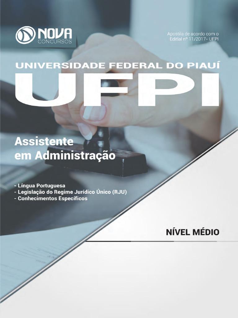 9f7a7f11b53  Apostila UFPI - Assistente Em Administração (2017) - Nova Concursos
