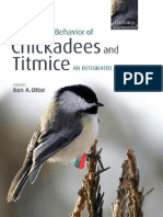 The Ecology and Behavior of Chickadees and Titmice - An Integrated Approach