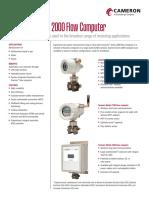 Cameron Scanner 2000 Data Sheet