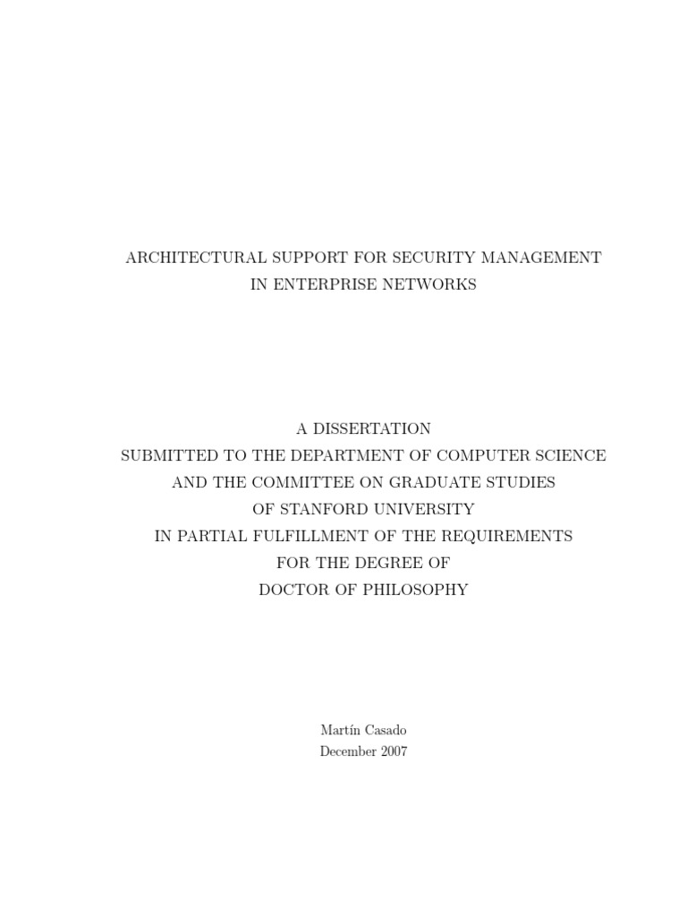 Phd thesis on computer networks