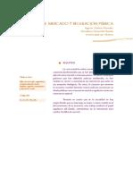 Fallos de Mercado y Regulacion Publica