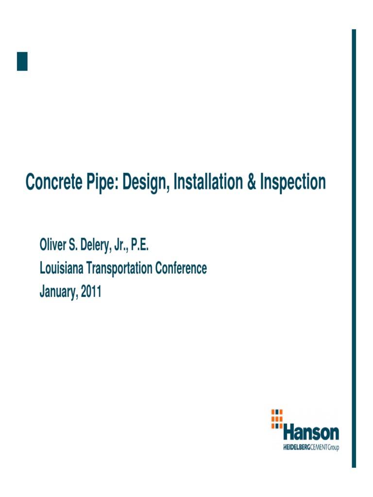 Concrete Pipe- Design, Installation & Inspection pdf