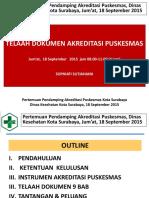 1. Telaah Dokumen Akreditasi Puskesmas 18 September 2015