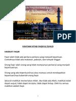 Nota Ihya 225 22  :KHATAM KITAB FAQIR & ZUHUD