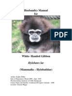 Husbandry Manual for White Handed Gibbon