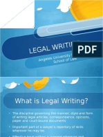 2016 Legal Writing 1- AUF