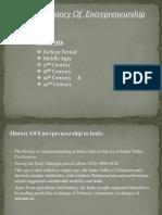 History of Entrepreneurs