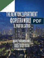 The Newton2 Apartment By Ciputra @ciputra world 2 Kuningan Jakarta Selatan