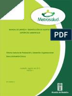 MANUAL LIMPIEZA Y DESINFECCIÓN METROSALUD 2013.pdf
