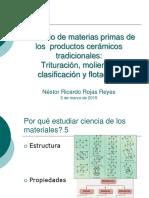Beneficio de Materias Primas Cerámicas Clase 1