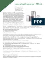 Projektovanje Sistema Toplotne Pumpe - REHAU-Grejanje