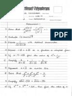 Std Ix - Maths Assignment i & II