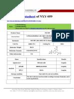 Datasheet of NXY-059|CAS 168021-79-2|sun-shinechem.com