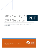 Peace Corps Let Girls Learn Gender Equity Cross-Sector Programming Priority (CSPP 2012) 2017  Guidance for Updated GenEq LGL VRF Reporting