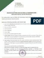 Resitting Circular Oct-Nov 2017 Examination