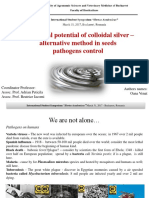 Antifungal potential of colloidal silver –  alternative method in seeds  pathogens control