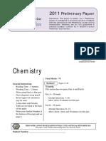 2011 Chemistry Preliminary ES