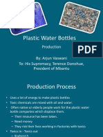 Plastic Water Bottle Production
