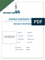 SUPRA Design Report Format 2017