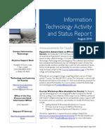 August 2010 IT Status Report