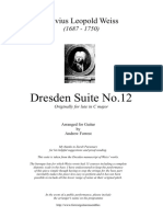 S L Weiss - Dresden Suite 12 Tr A Forrest / Z. Parastaev